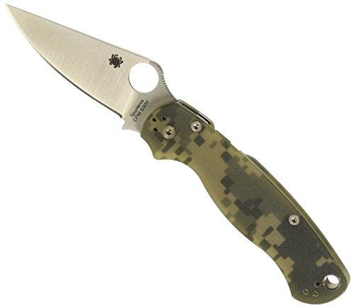 Spyderco Para Military 2 Klappmesser, schwarz Klinge, Tarnung G-10 Griff (S30v Klinge Schwarz)