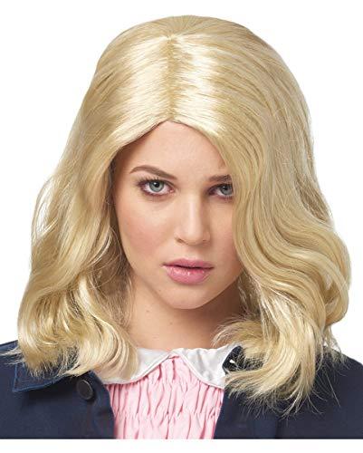 Girl Fi Sci Kostüm - Horror-Shop Blonde Strange Girl Perücke als Kostüm Accessoires