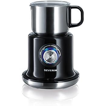 Severin SM 9688 Milchaufschäumer (500 Watt, Induktion, 700 ml, kaltes und warmes Aufschäumen, stufenloses Erwärmen) edelstahl/schwarz