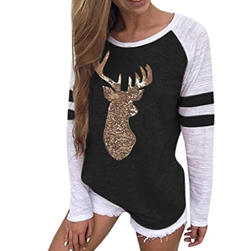 Soupliebe Männer Frauen Modus 3D Weihnachten Print Langarm Paare Hoodies Top Bluse Shirts Kapuzen Sweatjacke Kapuzenpullover Pullover ()