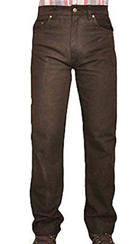 Shamzee Lederhose Leder Jeans Hose aus Nubuck Leder