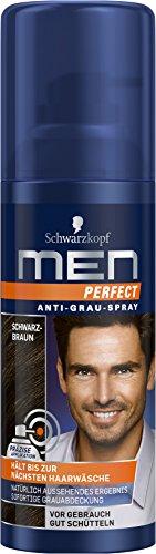 Men Perfect Anti-Grau-Spray Schwarzbraun, 100 ml (Braune Haare Färben Spray)