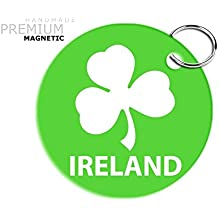Impresionante JCM Irlanda Rugby Llavero magnético, diseño de trébol, color verde