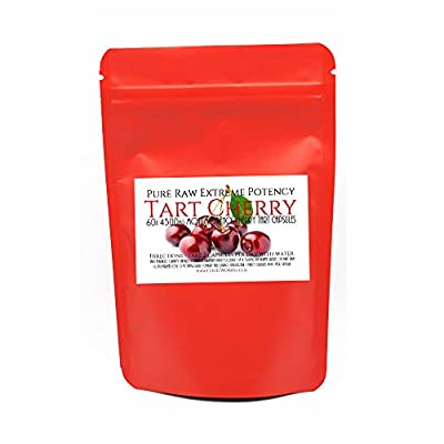 Super Strong 4,500mg 100% Pure Montmorency Tart Cherry Juice Capsules not tablets No Fillers Highest Quality Cherries by COZITWORKS