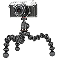 JOBY Gorillapod 1K Kit. Compact Tripod 1K Stand and Ballhead 1K for Compact Mirrorless Cameras or Devices Up to 1K (2.2Lbs). Black/Charcoal