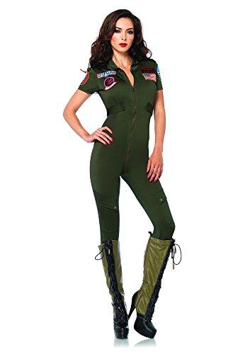 Leg Avenue Damen Top Gun Damen Jumpsuit Gr. xl,  - siehe Abbildung (Halloween Top Gun)