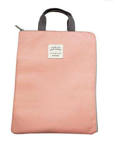 iSuperb® A4 Dokument Organizer Tasche Halter iPad Tasche Fall wasserdicht geräumige Tasche für Männer Frauen 35*27cm rose (Ipad-tasche Für Frauen)