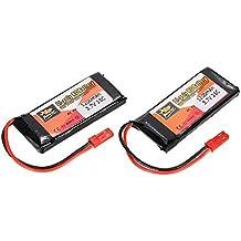 Goolsky Batería de LiPo del enchufe de JST de la energía 3.7V 1200mAh 25C JBL de 2pcs ZOP para Walkera WKLIPO-5 # 10 5G4Q3 SYMA S006