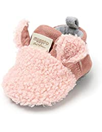 LACOFIA Baby Boys Girls Anti-Slip Soft Sole Winter Warm Booties