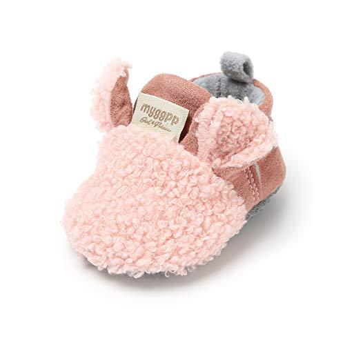 Auxma Baby schönen Herbst Winter warme weiche Sohle Schneeschuhe weiche Krippe Schuhkleinkind Stiefel (12cm(0-6 Monate), UU)