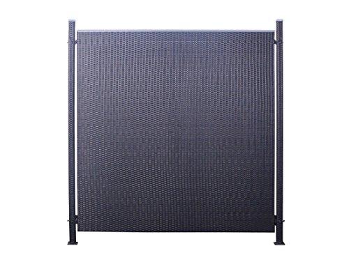 Poly-Rattan Sichtschutz / Zaun-Set 3-teilig schwarz ca. 194cm Prime Tech