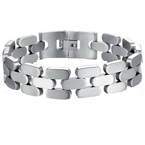 GDS fresco hombre textura titanio pulsera de acero preisvergleich