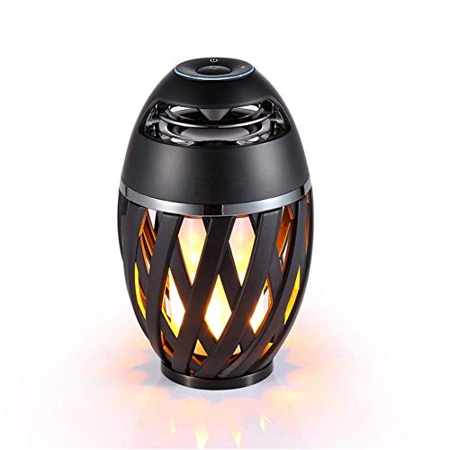 LED Flame Light Bluetooth Lautsprecher, Outdoor/Indoor Tragbare Stereo USB Lade Flashing Tanzen Tragbare Wireless Speaker Flame Camping Licht