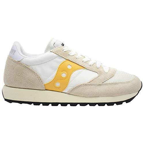 Saucony Damen Jazz Original Vintage Sneaker, Mehrfarbig (Cement/Yellow 40), 39 EU -