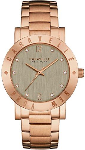 Caravelle New York 44L203braccialetto da donna in acciaio grigio quadrante orologio da donna