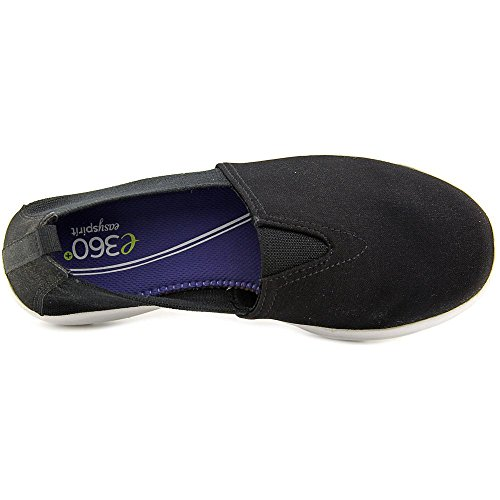 Easy Spirit e360 Quirky Damen Breit Rund Textile Slipper Black