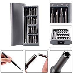 Juego de destornilladores 24 en 1 Juego de destornilladores de precisión Bits magnéticos para el teléfono de Xiaomi Herramientas de reparación del kit para el hogar Juego de destornilladores de bricolaje para trabajos de reparación