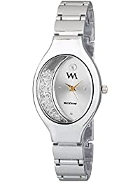 Watch Me Silver Dial Silver Stainless Steel Strap Analog Quartz Watch for Women and Girls WMAL-319-Sbys