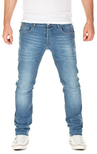 Yazubi Herren Jeans Aaron Slim Fit, federal blue (4029), W34/L34