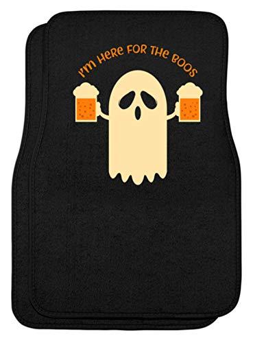 SPIRITSHIRTSHOP I'm Here For The Boos - Mann, Männer, Junge, Jungen, Boy, Boys, Bier, Halloween, Gespenst - Automatten -Einheitsgröße-Schwarz