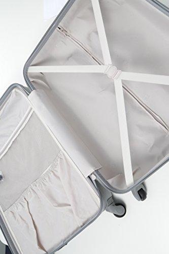 Aerolite Große Leichtgewicht ABS Hartschale 4 Rollen Trolley Koffer Reisekoffer Hartschalenkoffer Rollkoffer Gepäck , 79cm , Wein - 3
