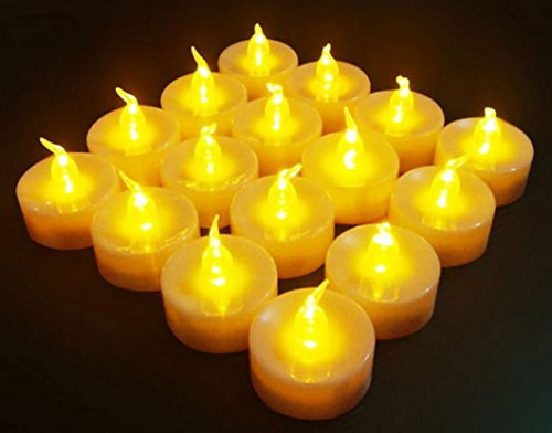 DATO 24pcs Velas LED Con Pilas con Mando De La Luz Del Té De Flickering Velas Sin Llama Para El Banquete De Boda De Navidad Decoración La luz Amarilla Parpadeo Lento