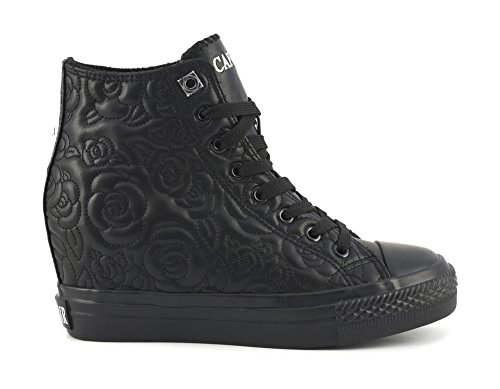 CafÈnoir Sneakers zeppa nero scarpe donna DG911 37