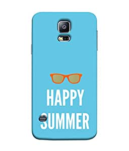 Fuson Designer Back Case Cover for Samsung Galaxy S5 Neo :: Samsung Galaxy S5 Neo G903F :: Samsung Galaxy S5 Neo G903W (Sunglasses Spects Spectacles Happy Summers)