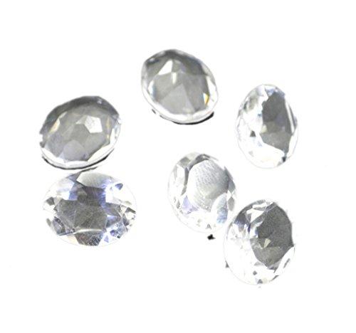 gemme sciolte cristallo di quarzo 1 pezzi 8 x 10 mm ovale sfaccettato la pietra preziosa incolore