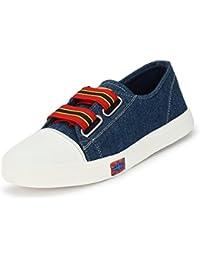KASHNAR Womens Damsel Blue Casual Sneakers Shoes