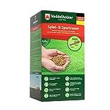 Veddelholzer Garten Rasenpellets Sport und Spielrasen – Rasensamen für robusten und widerstandsfähigen Rasen – Grassamen für 40 m² zur Einsaat und Nachsaat – Samen geeignet für...