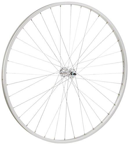 WILKINSON - Ruota Anteriore in Lega con ASSE Fisso, per Bici Ibrida, Colore: Argento, 700 C, Argento (Argento), 700 C