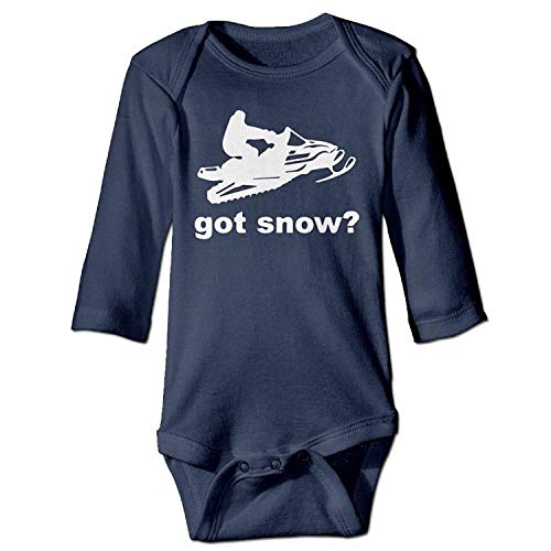 MSGDF Unisex Infant Bodysuits Got Snow Baby Babysuit Long Sleeve Jumpsuit Sunsuit Outfit Navy (Infant Snow Pants)