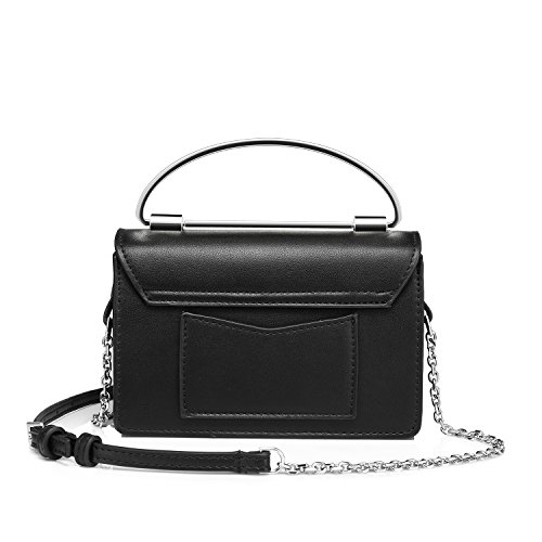 Realer Moda Borse a tracolla laterale borsa piccola Crossbody per le donne Nero
