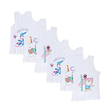 23e292195 Littly Unisex Printed Cotton Baby Vests