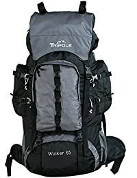 Tripole Walker 65 litres Rucksack | Internal Frame with Metal Rod | Rain Cover | Bottom Opening | Laptop Section