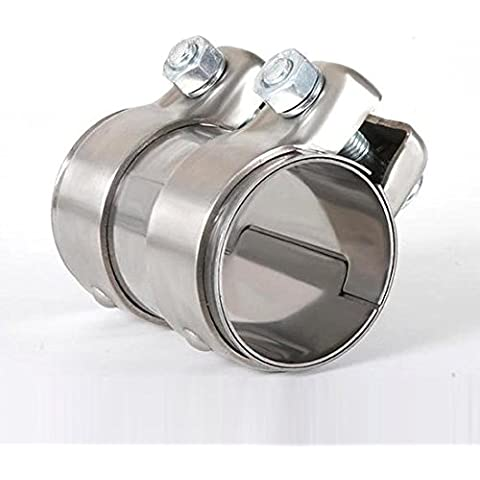 Tubo de Acero Inoxidable V2A conector/abrazadera doble para sistema de escape 2,25pulgadas/57,1mm