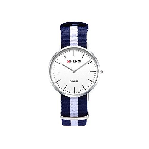 Damen Herren Unisex Nylonband Armbanduhr Herrenuhr Damenuhr Schlicht Mode Elegant Sportlich Frauen Teenager Sportuhr Analoge Quarz Uhr Minimalistische