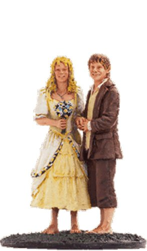 Lord of the Rings Señor de los Anillos Figurine Collection Nº 54 Sam & Rosie 1