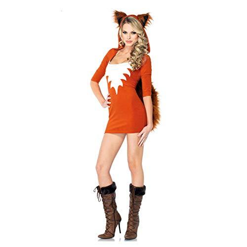 Jungs 90's Kostüm - GBYAY Frauen Karierten Dämon Fox Kostüm Tier Fox Cosplay Kostüm für Halloween Party Kostüm Schulmädchen Uniform