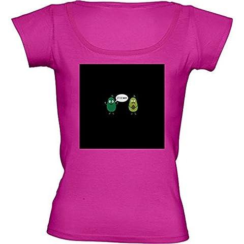 Camiseta Cuello Redondo para Mujer - Aguacate Loca Se Desnuda by ilovecotton