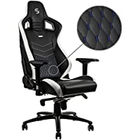 noblechairs EPIC Gaming Chair - SK Gaming Edition - Black/White with Vegan Friendly PU Leather, 2 Year Warranty, Up to 180KG Users, Perfect for an Executive Office Chair, Racing Seat Design