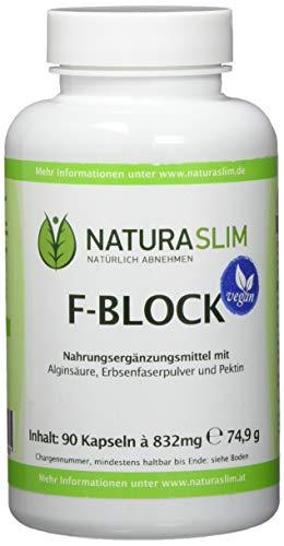 Fatblocker | Gewichtskontrolle | Fettbinder| Natürlich Abnehmen | Naturaslim F-Block Kapseln | Vegan