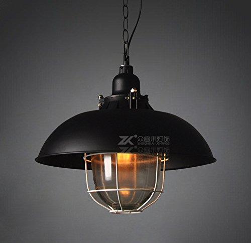 GS~LY Retrò Industrial lampadari in ferro singolo coperchio (Metallo Acciaio Testata)
