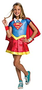 DC Comics - Disfraz de Supergirl licencia oficial para niña, infantil talla 3-4 años (Rubie
