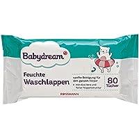 Babydream Feuchtt/ücher 160 St/ück 2x80 T/ücher sanfte /& gr/ündliche Reinigung mit Aloe Vera /& Kamillen-Extrakt