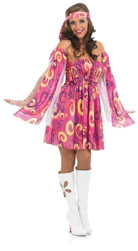 Jahren 1970er Hippie (60S Swirl Dress)