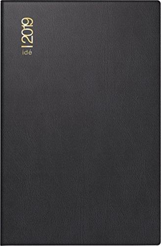 rido/idé 701100290 Taschenkalender partner/Industrie I, 2 Seiten = 1 Woche, 72 x 112 mm, Kunststoff-Einband schwarz, Kalendarium  2019