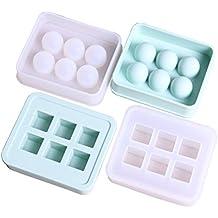 4 piezas / set de silicona granos de la bola cubo molde 6 de resina hecho a mano molde de silicona diy joyería artesanal haciendo molde de resina epoxi