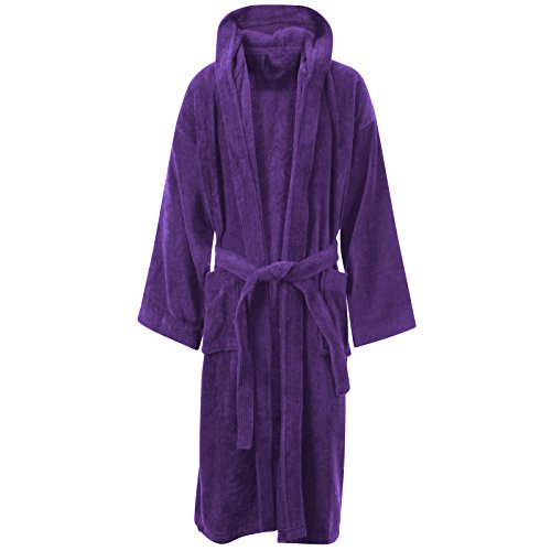- 41zGHq 2BDdOL - MyShoeStore® UNISEX 100% LUXURY EGYPTIAN COTTON SUPER SOFT VELOUR TOWELLING BATH ROBE DRESSING GOWNS BATHROBE TERRY TOWEL BATHROBES HOUSECOAT NIGHTWEAR LOUNGE WEARS HOUSE COAT WITH POCKETS AND BELT